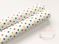 1150 - Children in need inspired polka dot printed canvas sheet