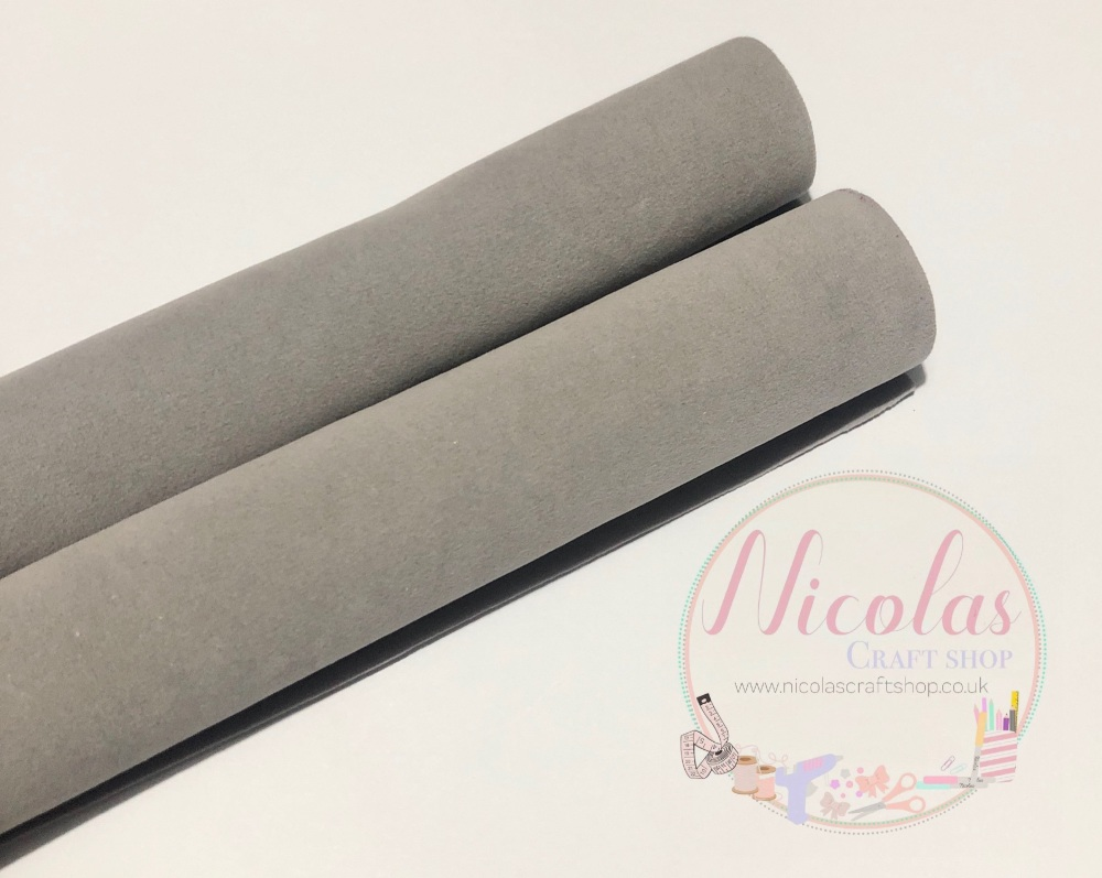 Double sided Grey velvet sheet