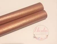 Pearlescent rose gold fabric sheet