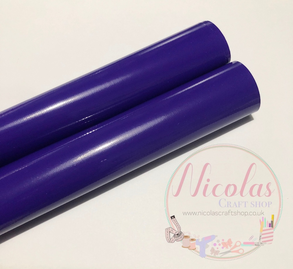 Dark Purple Gloss vinyl leather a4