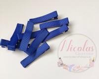 Royal Blue Pre lined 45mm alligator clips (pack of 10)