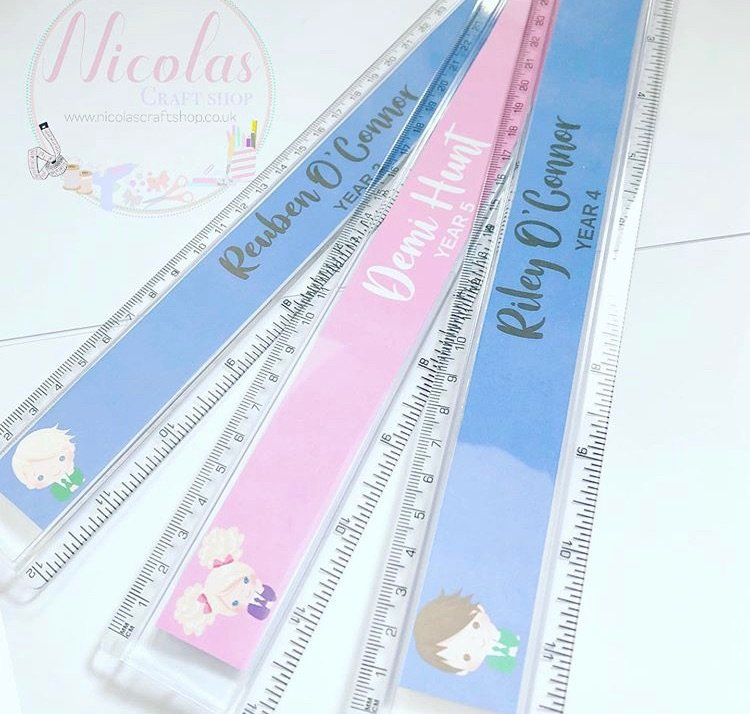 School Girl / Boy Personalised Clear Plastic Ruler 30cm