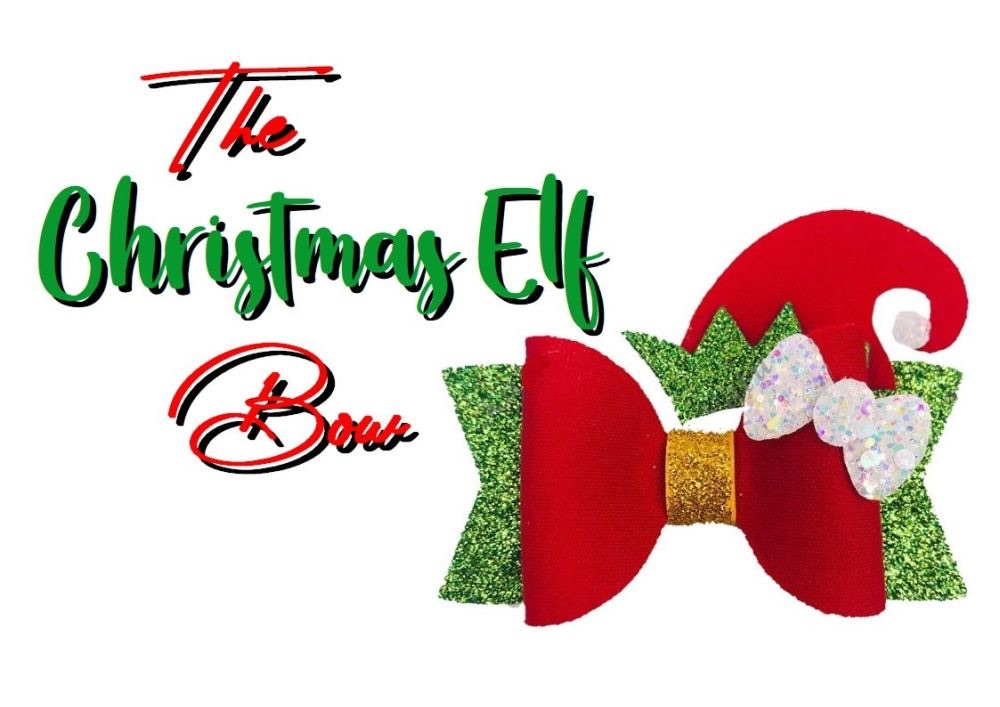 """The Christmas Elf Bow Plastic Template 3.5"""""""