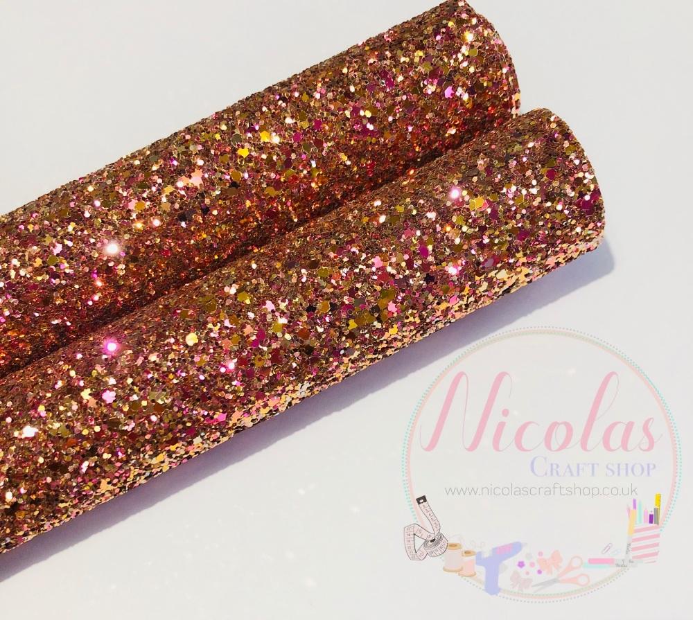Golden Fairy a grade chunky glitter fabric