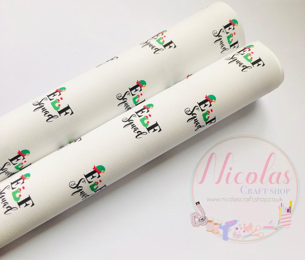 1314 - Elf squad christmas printed canvas sheet