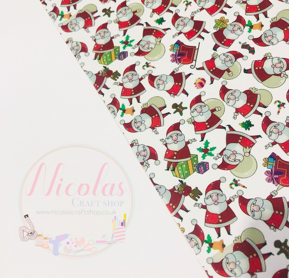 Santa claus transparent jelly fabric