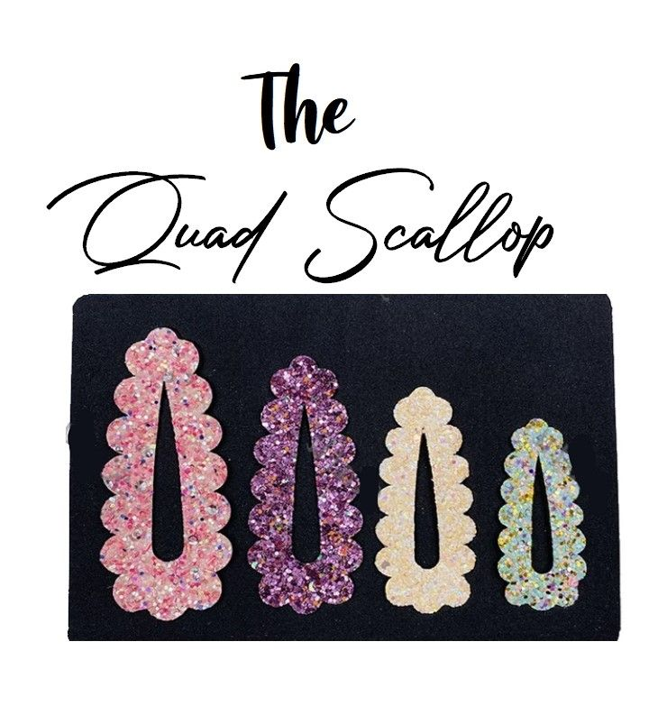 The Quad scallop edge clip liner cutting die