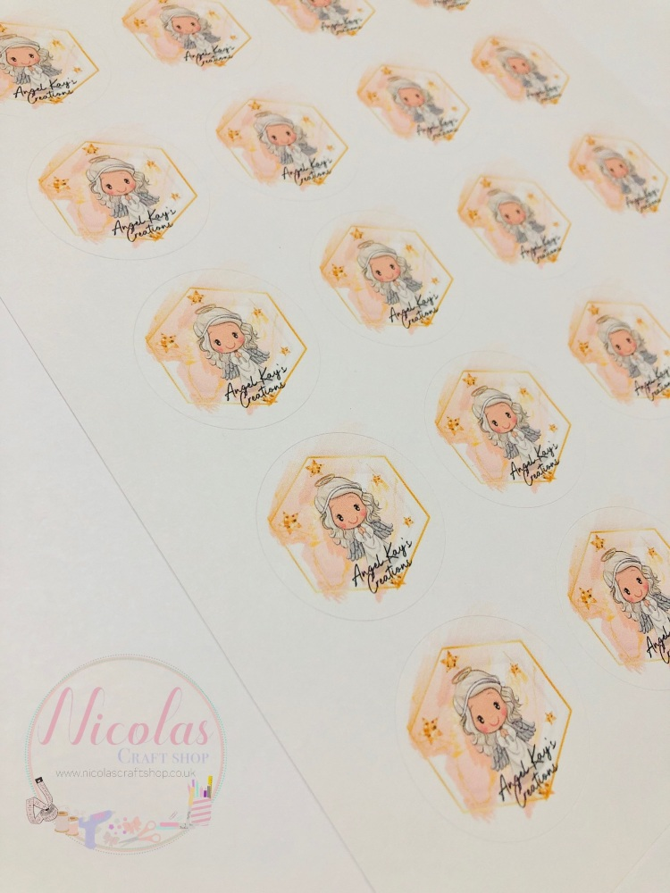 Personalised logo sticker sheets x5