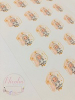 Personalised logo sticker sheet