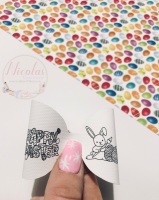 Happy Easter Colour in printed pre cut bow loop