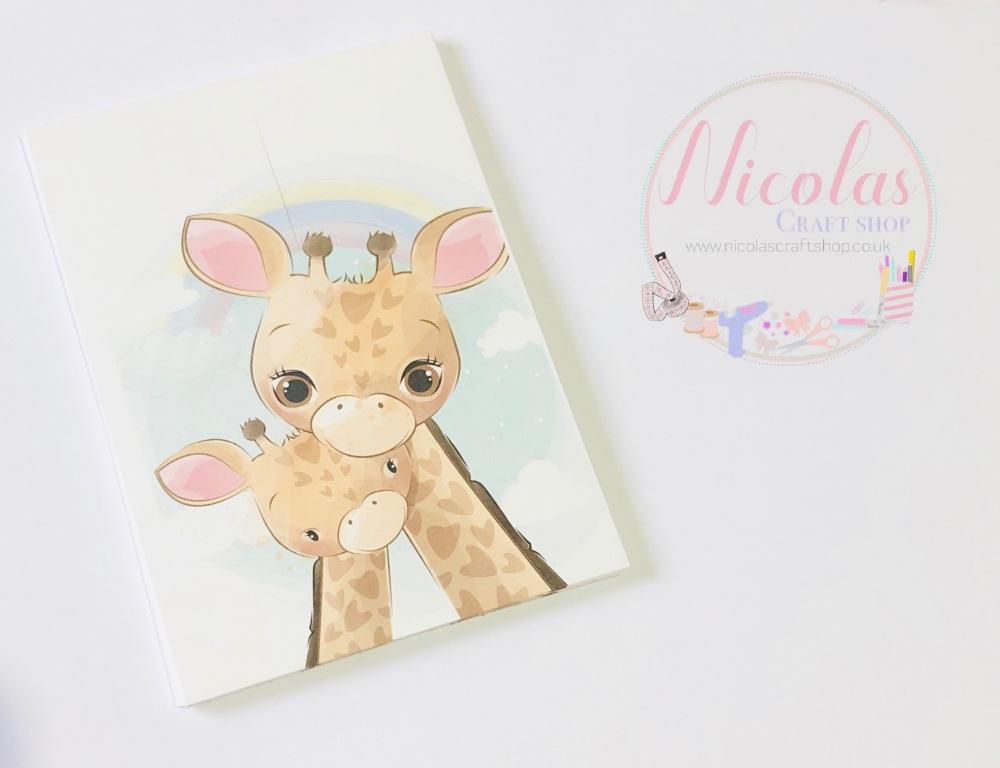 Mummy & Me Giraffe printed bow cards