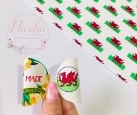 St Davids day welsh dragon personalised printed pre cut bow loop