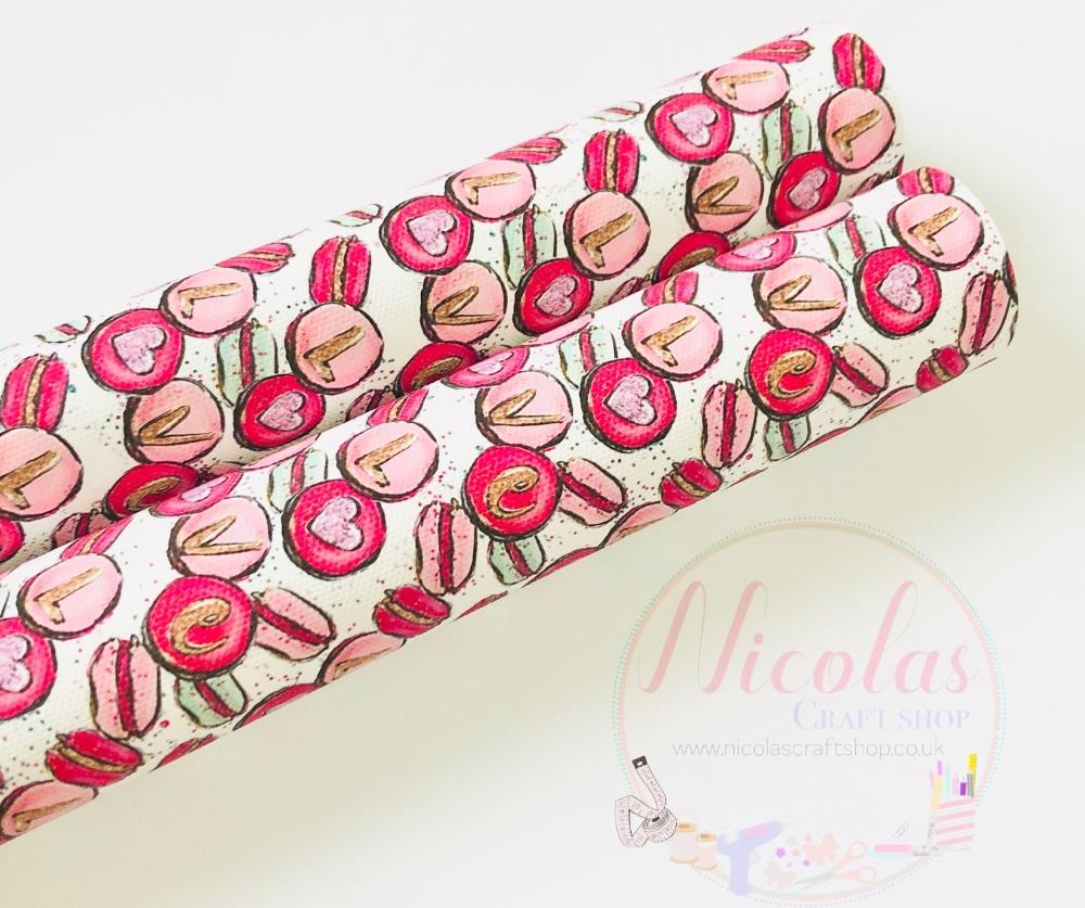 Love valentines biscuit printed canvas sheet