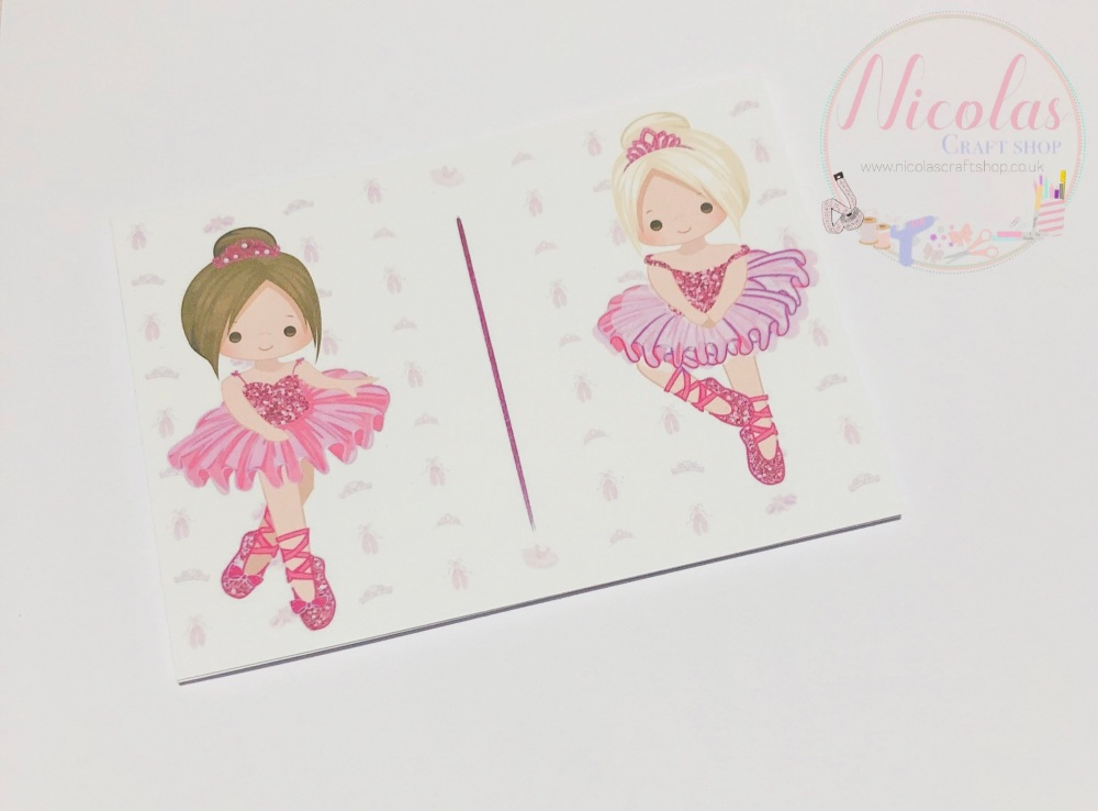 THE PINK BALLERINA PACK OF 10 PRINTED CARDS