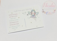 THE WATERCOLOUR TOOTH FAIRY PACK OF 10 PRINTED BOW CARDS