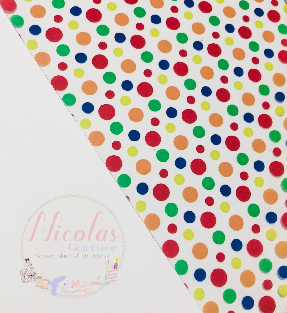 Inspired polka dot printed transparent jelly fabric