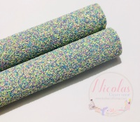All things Easter mixed chunky glitter fabric
