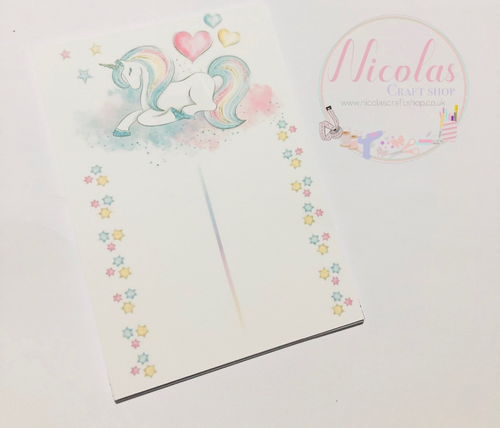 Royal unicorn printed bow display cards (pack of 10)