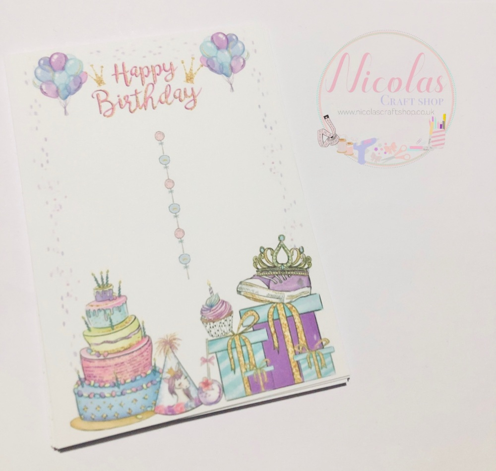 Happy birthday bow display cards (pack of 10)