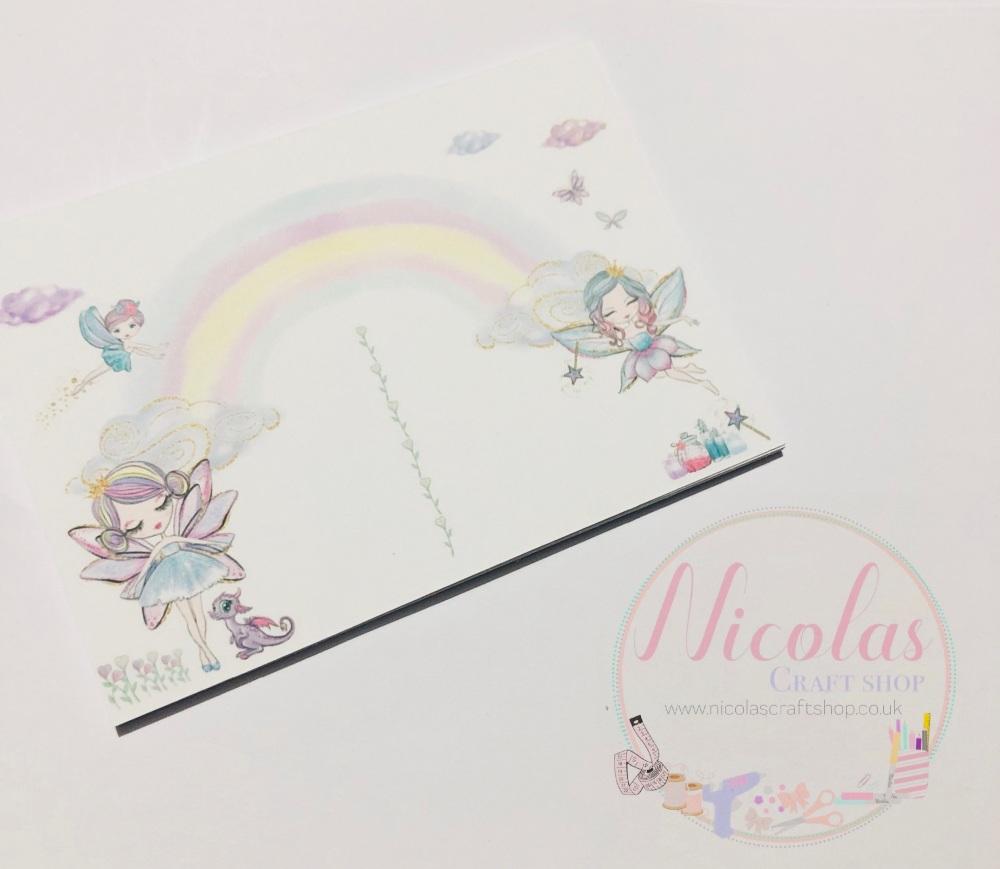 Pastel fairies printed bow display cards (pack of 10)