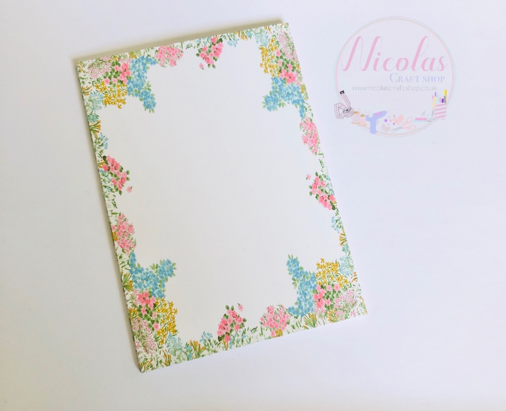 Spring flower printed bow cards (pack of 10)