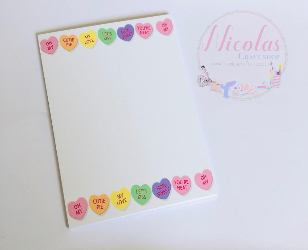 Sweetie love heart printed bow cards (pack of 10)