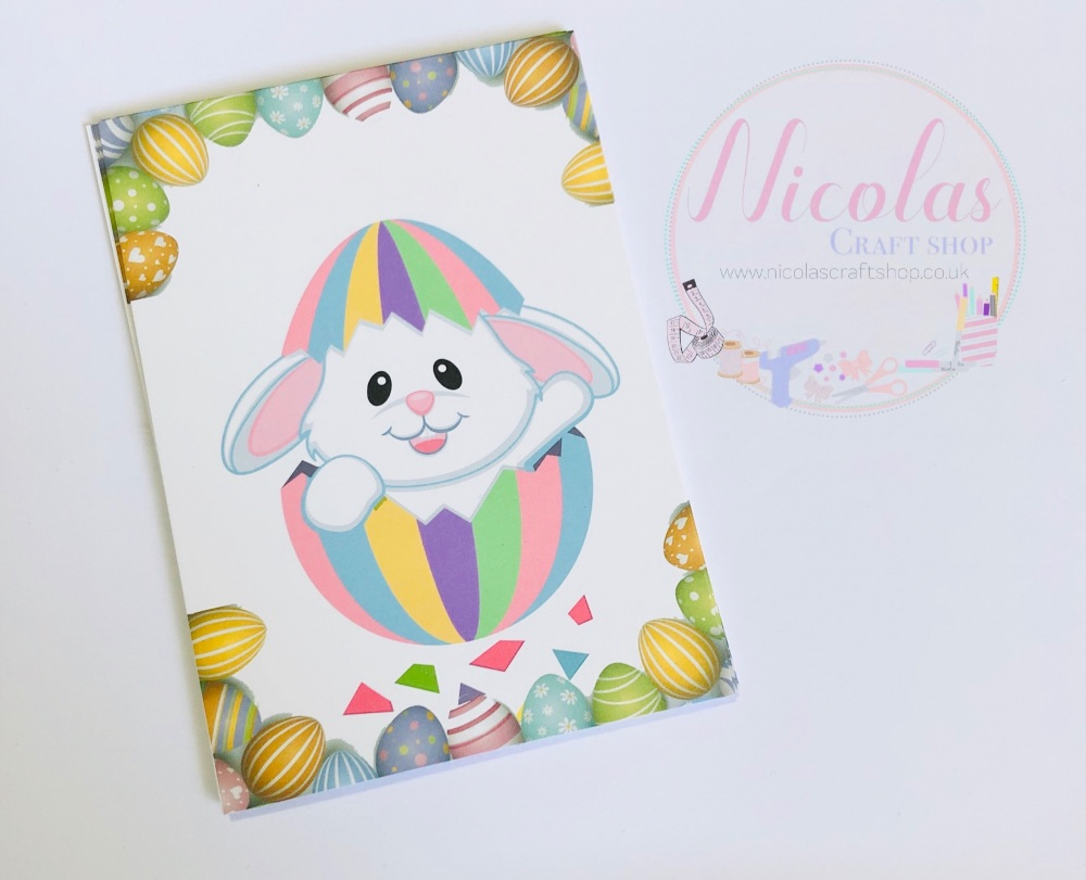 Pastel easter bunny hatching printed bow cards (pack of 10)