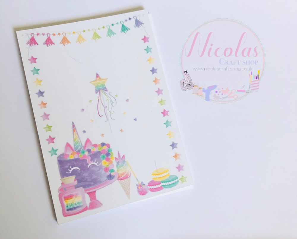 Rainbow treats printed bow display cards (pack of 10)