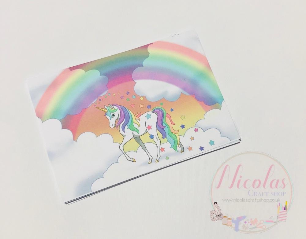 The rainbow unicorn printed bow cards (10 pk)