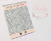 Dalmation thank you for your order printed bow cards pack of 10