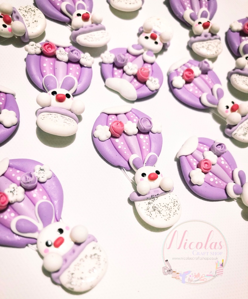 Easter Vibes - Lilac balloon - polymer clay