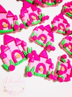Pretty Princess Castle bright pink polymer clay