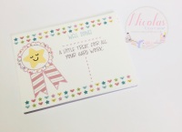 Personalised well done bow display cards (pack of 10)