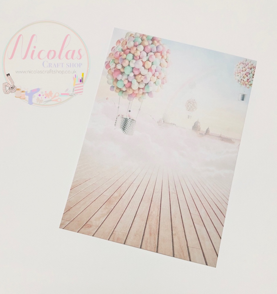 Pastel Dreamland Printed bow card (pack of 10)