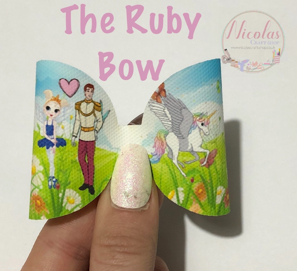 The Ruby Royal Fairy and prince printed pre cut bow loop