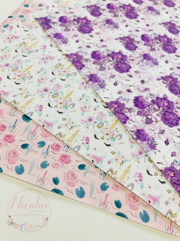 FIVER FRIDAY - PASTEL FLORAL SPRING PRINTED CANVAS BUNDLE (3PC)