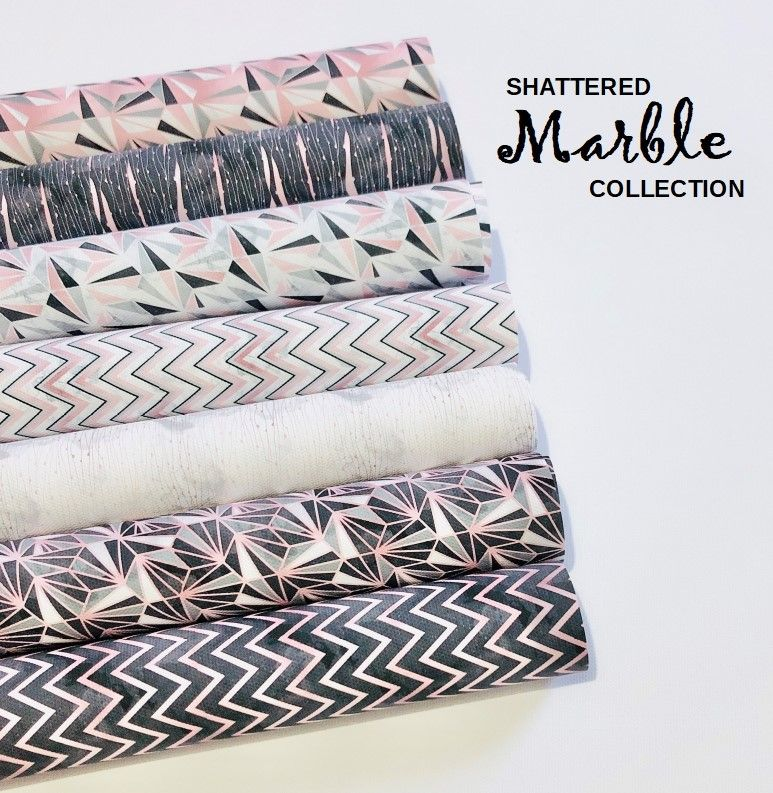 Shattered Marble Collection Printed Canvas Bundle