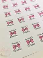 Handmade to perfection printed sticker sheet