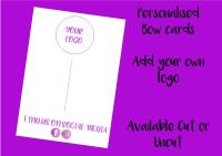PURPLE - Personalised Business Logo Printed Bow Cards