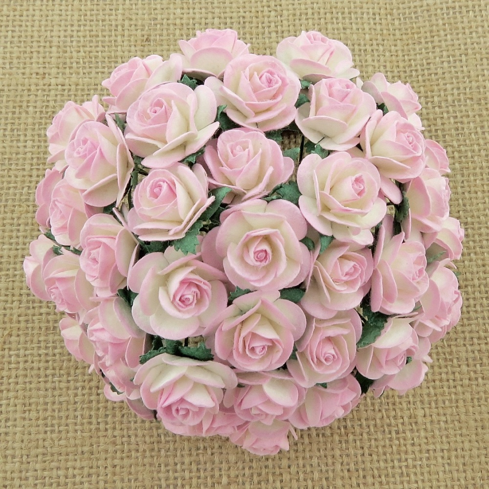 MULBERRY FLOWERS - BABY PINK / IVORY TWO TONE