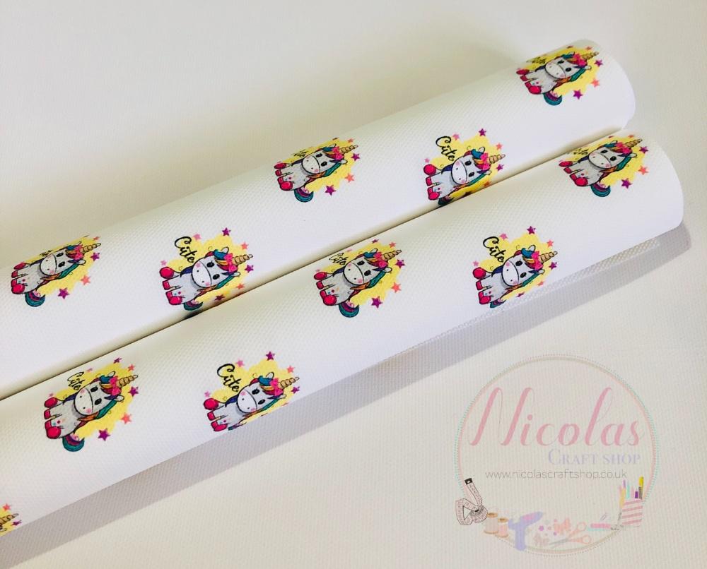 Cute rainbow mane clipart printed canvas fabric