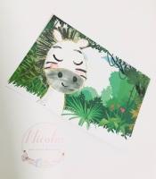 Safari Zebra Printed Bow Cards