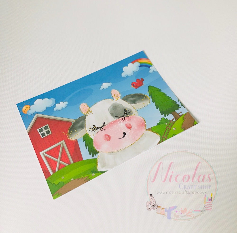 Down At The Farm printed bow cards