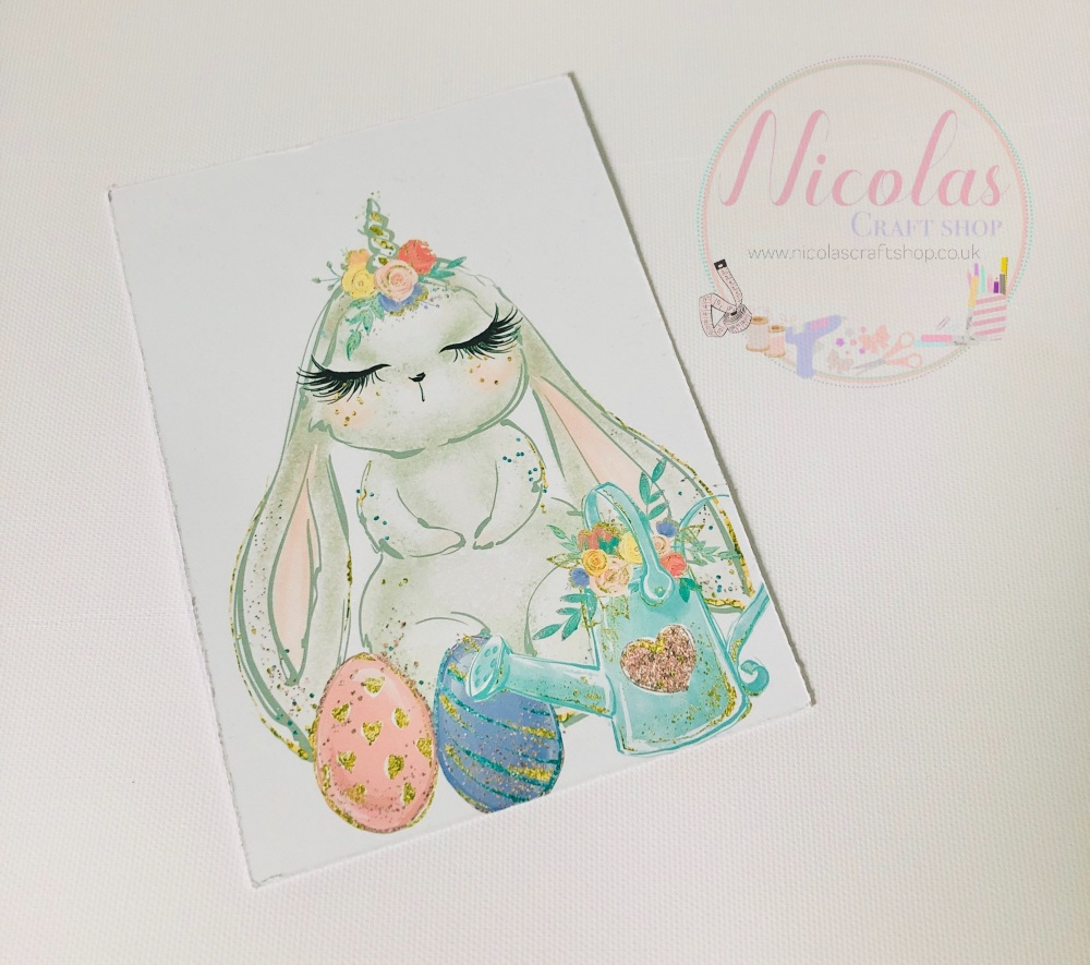 Flappy Ear Easter Bunny Printed Bow cards