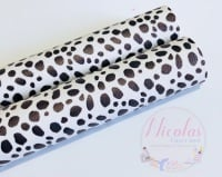 SMOOTH - dalmation printed leatherette fabric