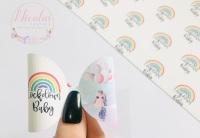 Lockdown baby rainbow printed pre cut bow loop