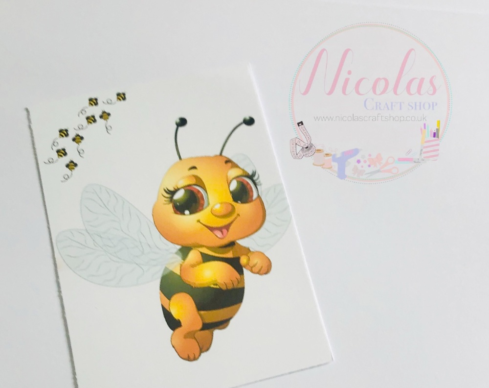 Bumble Bee printed bow cards