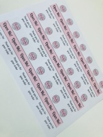 PERSONALISED LOGO - C5 Pip Box Mini Open me Sticker Sheet