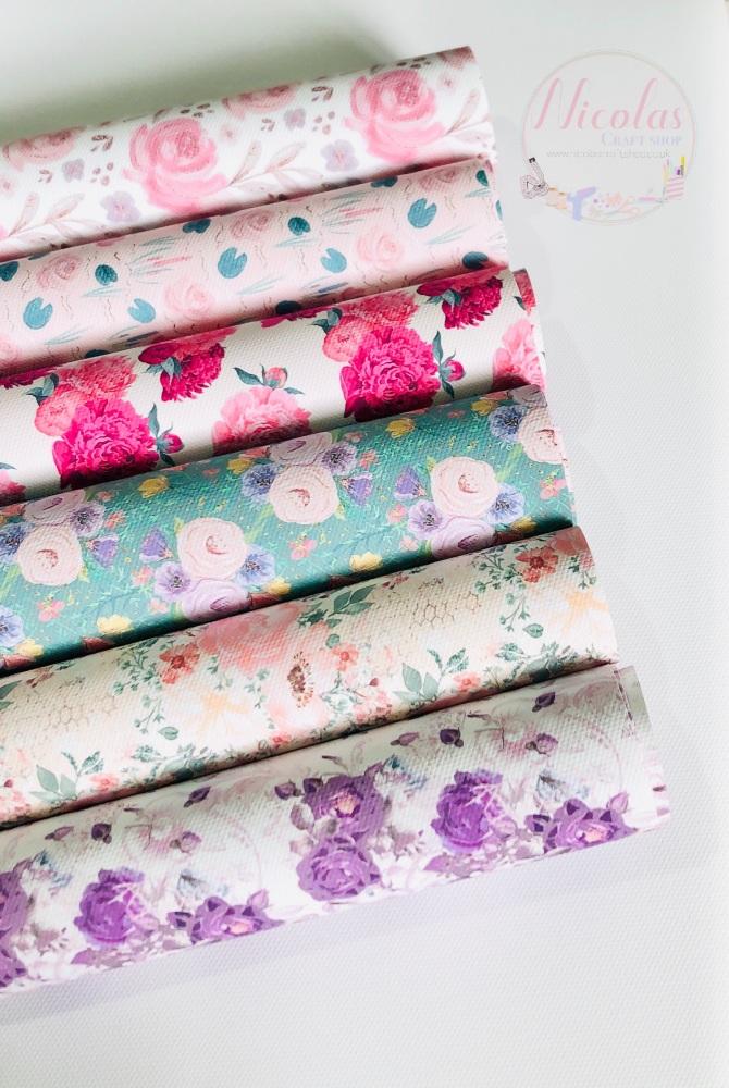 Floral Collection Printed Canvas Bundle