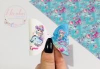 Princess of the sea personalised printed pre cut bow loop